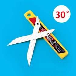 10 Pcs/Box Deli Art Blade 30 Degrees Blade Trimmer Sculpture Blade Utility Knife General