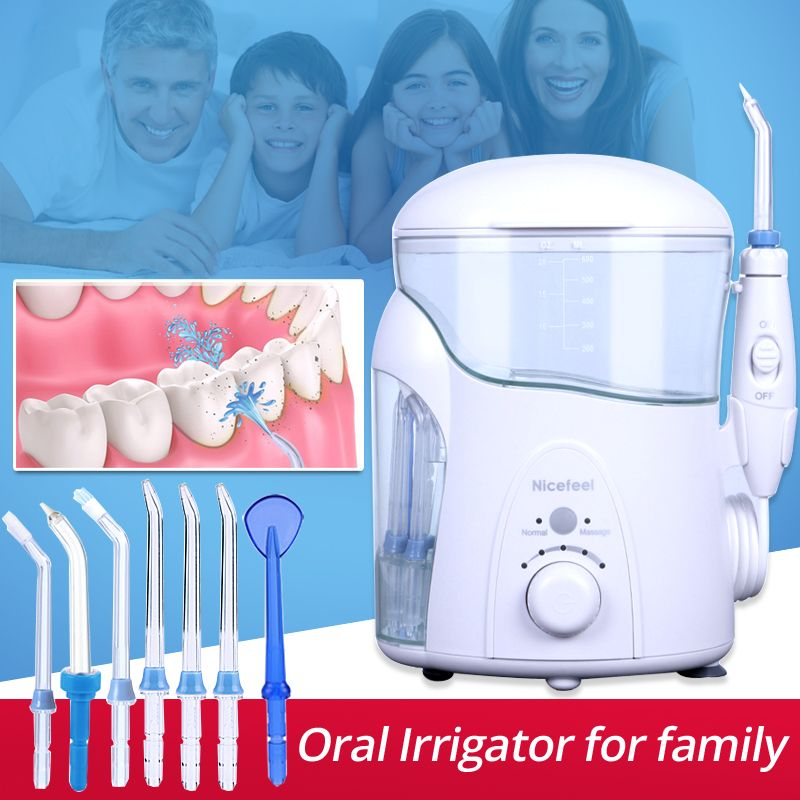 Tooth Cleaner Nicefeel Oral Irrigator Portable Stains Plaque Removal SPA with UV disinfector Dental Water Jet Flosser FC288uv