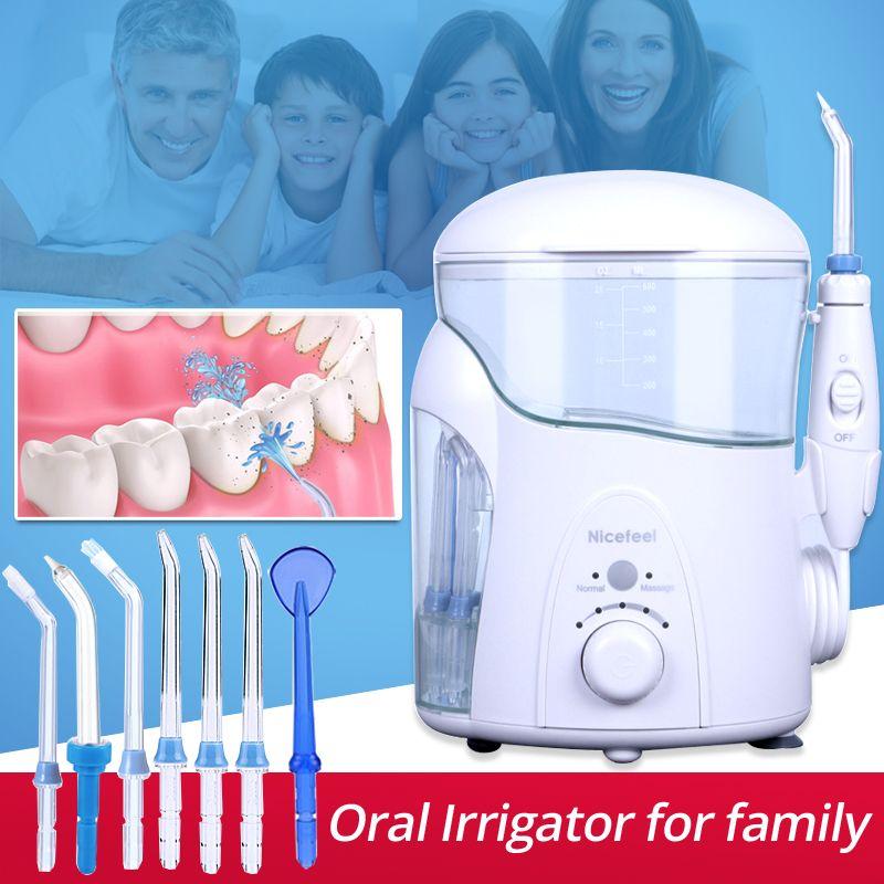Zahn Reiniger Nicefeel Oral Irrigator Tragbare Flecken Plaque Entfernung SPA mit UV desinfektor Dental Wasser Flosser Jet FC288uv