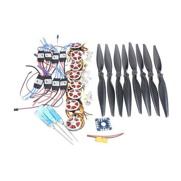 F05423-E Foldable Rack RC Helicopter Kit KK Connection Board+350KV Brushless Disk Motor+15x4.0 Propeller+40A ESC