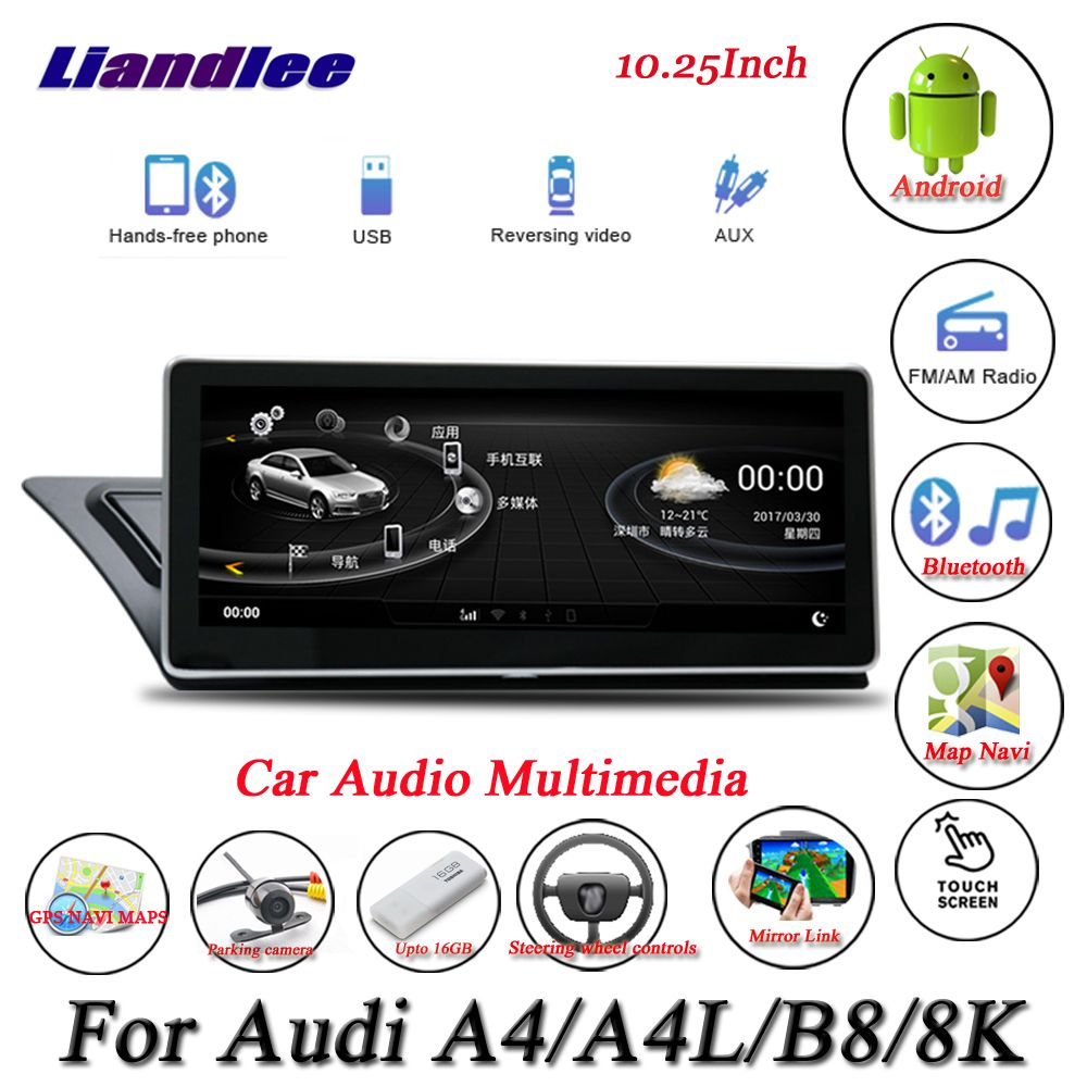 Liandlee Für Audi A4/A4L B8 8 K Android Original System Radio Carplay GPS Navi Navigation HD Screen Multimedia keine CD DVD Player