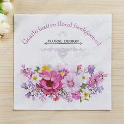 Nuevo de alta calidad de diseño floral flores papel servilletas café & party tissue servilletas decoupage decoración papel 33 cm * 33 cm 20 unids/pack/lot