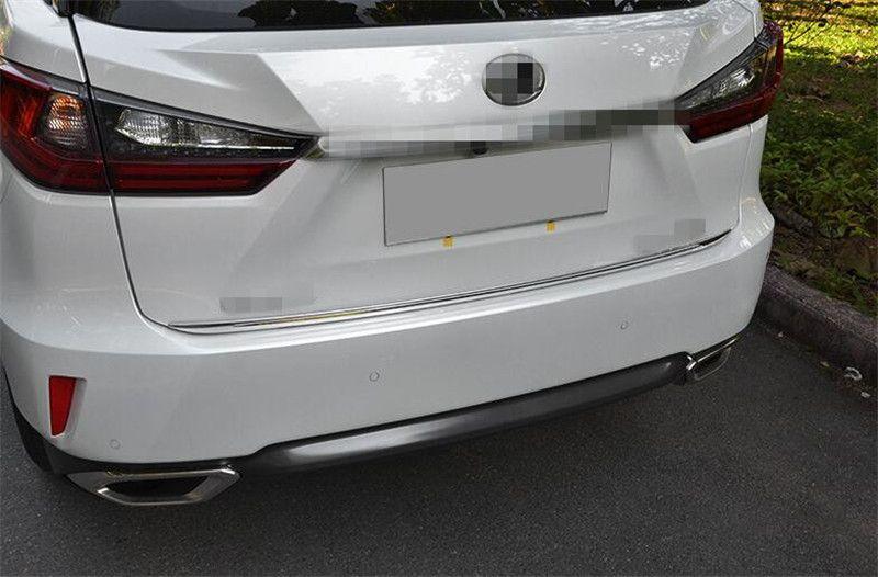 Für LEXUS RX200t RX450h 2016 1 stücke Edelstahl Hinten Tor Kofferraumleiste Trim Chrome Auto Zubehör