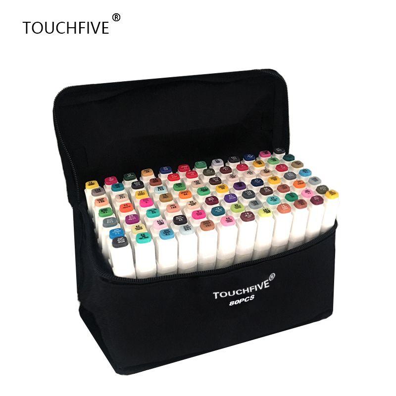 TouchFIVE 20/30/40/60/80/168 Couleurs ensemble Art Marqueurs alcool Double Tête graffiti stylo marqueurs manga dessin ensemble liner pinceau stylo