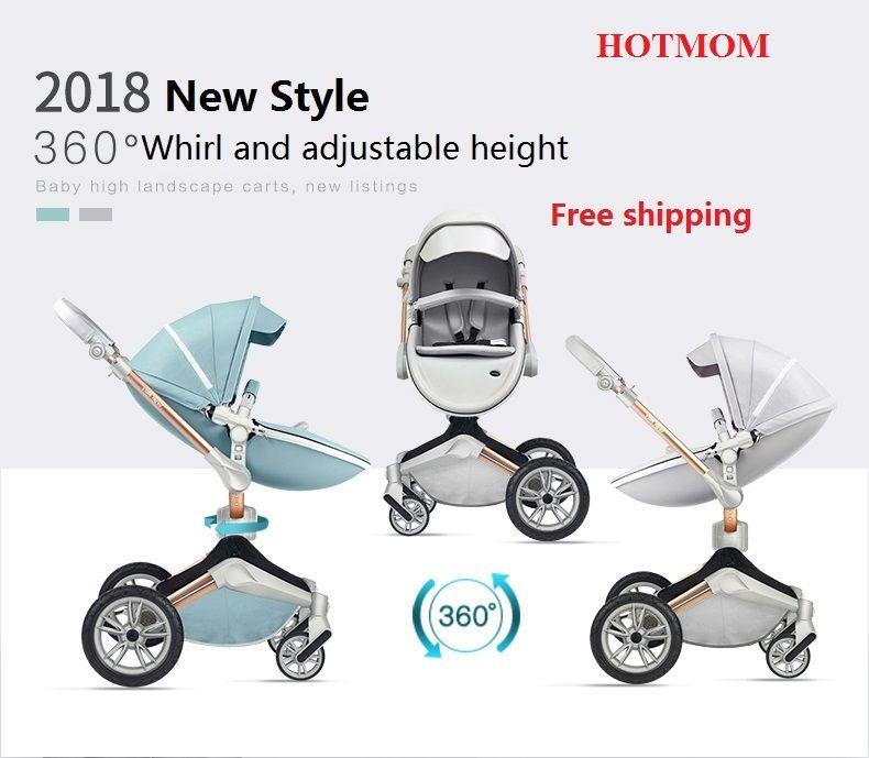 Freies Verschiffen Hotmom Baby Kinderwagen Mode und Hohe Landschaft Kinderwagen Luxus baby wagen