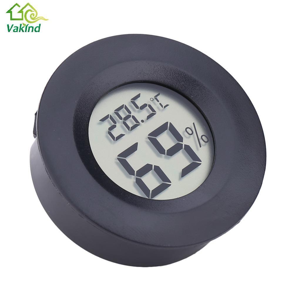 Mini LCD Runde Digital Thermometer Temperatur Feuchtigkeit Meter Hygrometer Tragbaren Kühlschrank Mit Gefrierfach Tester Detektor