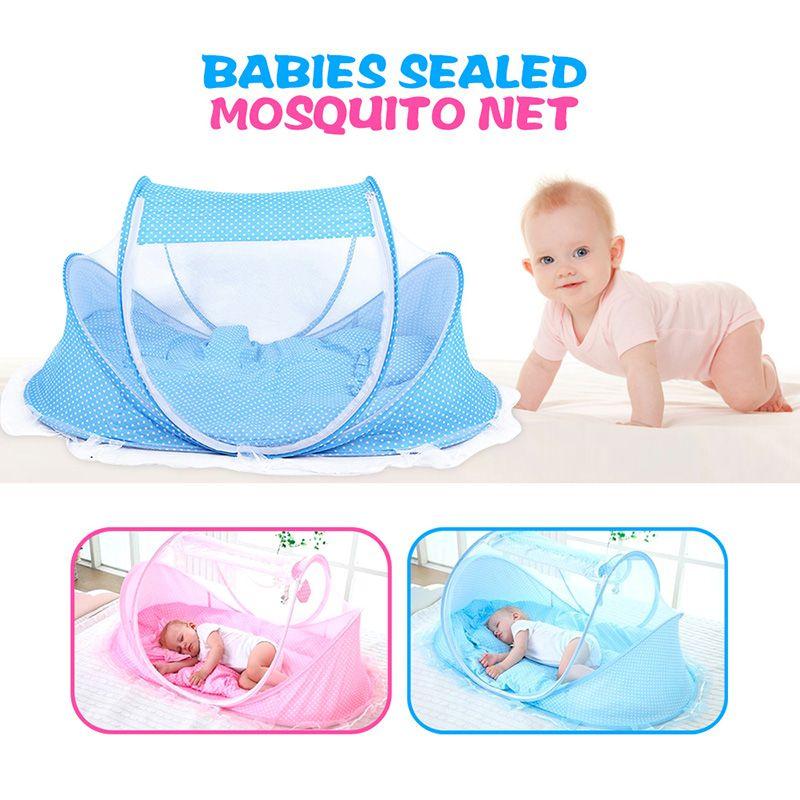 Haute Qualité Version Lit Bébé Portable Enfants Lit Confortable Bébés Scellé Moustique Net Matelas Oreiller Maille Sac Musique Accessoire