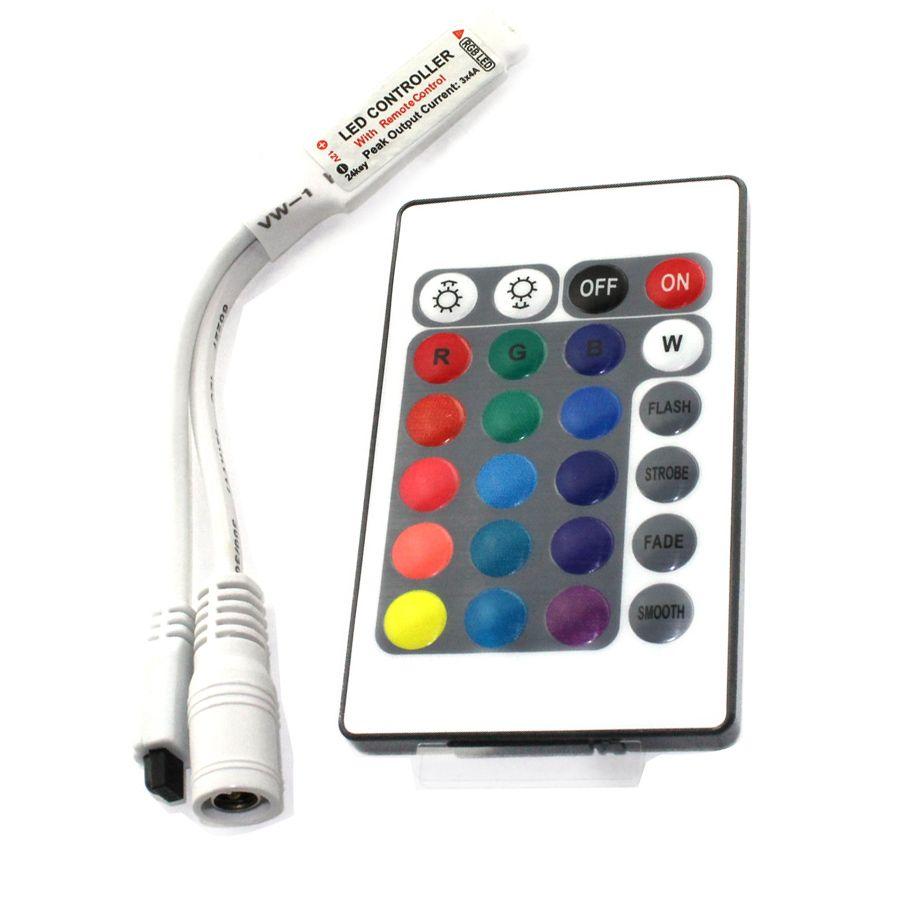 C7 1 шт. DC12V мини 24 клавиши ИК гамма пульт дистанционного управления для SMD3528/5050/3014 RGB Светодиодные ленты огни мини контроллер