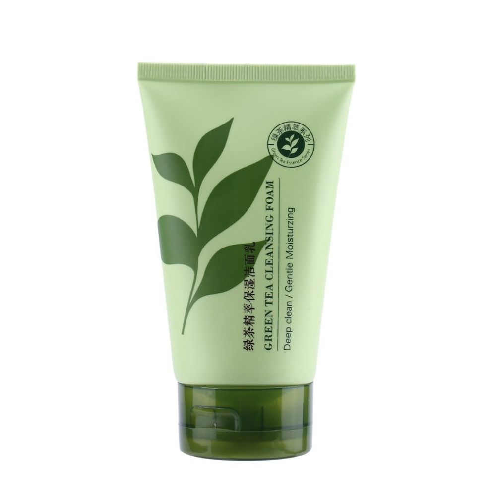 Green Tea Cleansing Foam 120g Deep Clean Gentle Moisturzing Purify Pores Makeup Remover Facial Cleanser Foam Cleanser fashion