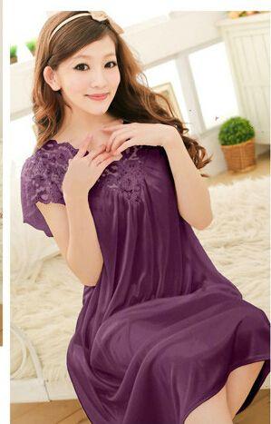 Livraison gratuite femmes dentelle sexy chemise de nuit filles , plus la taille peignoir grande taille des vêtements de nuit chemise de nuit Y02-3