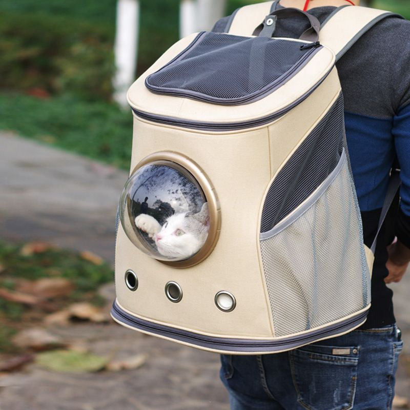 NEW Space Capsule Shaped Pet Carrier Breathable Pet Backpack Pet Dog Outside Travel Bag Portable Bag Cat Bags