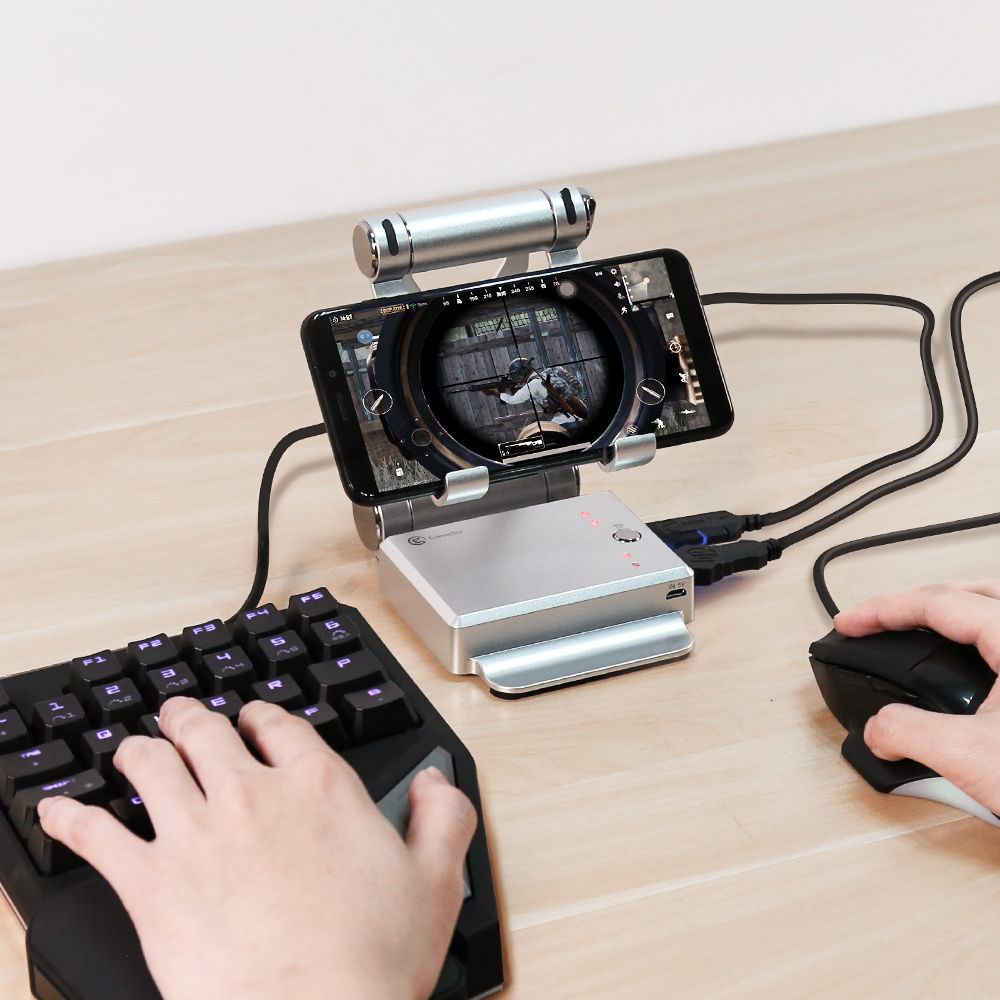 GameSir X1 BattleDock Keyboard and Mouse <font><b>Converter</b></font> for Hot PUBG Like, FPS, RoS, Mobile Legend games, Phone Holder, Power bank