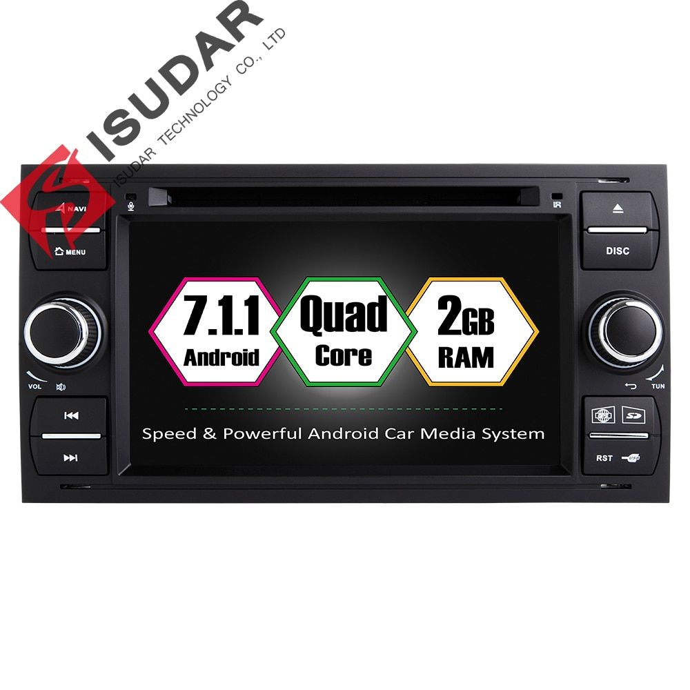 Android 7.1.1 Two Din 7 Inch Car DVD Player For Ford/Mondeo/Focus/Transit/C-MAX/S-MAX/Fiesta RAM 2G GPS Navigation Radio WIFI