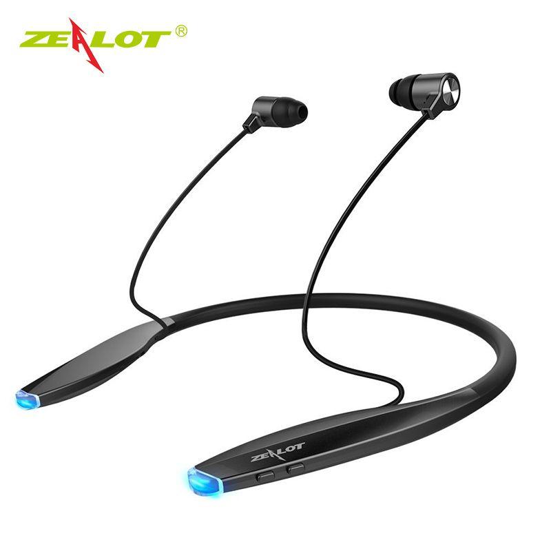 Écouteurs Bluetooth zélot H7 avec aimant bande étanche sans fil casque Sport écouteurs avec micro pour téléphones