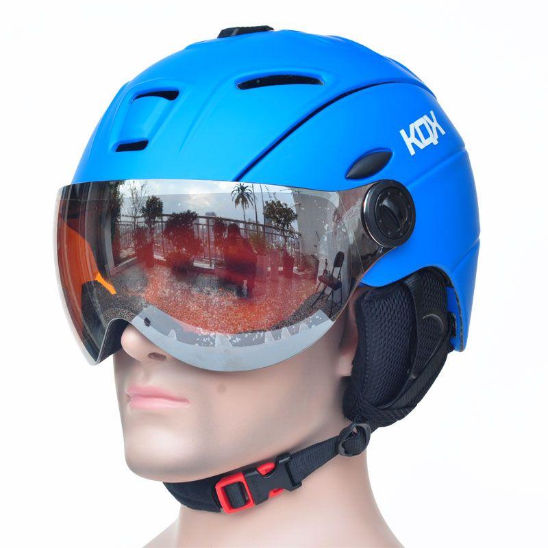 Half-abgedeckt Ce-zertifizierung Ski Helm Integral geformten Outdoor Sportbrillen Skihelm Snowboardhelm