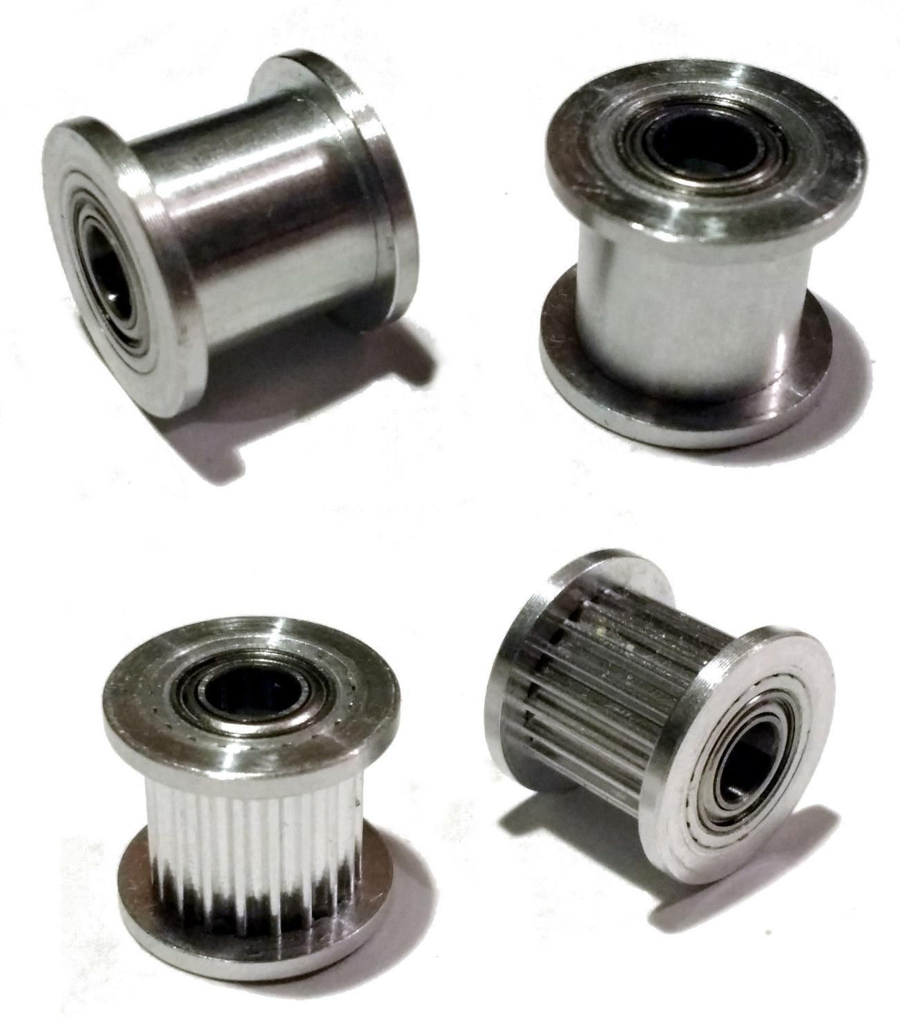 Horizon Elephant free shipping 3D Printer GT2 Idler Pulley, Toothed and Smooth - 5mm Bore for 10mm wide belt