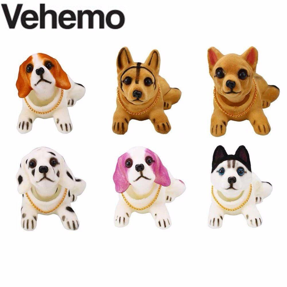 Car Styling Nodding Moving Bobble Dog Head Car Dashboard Car Home Interior Decor Doll Gift Toy Ornaments