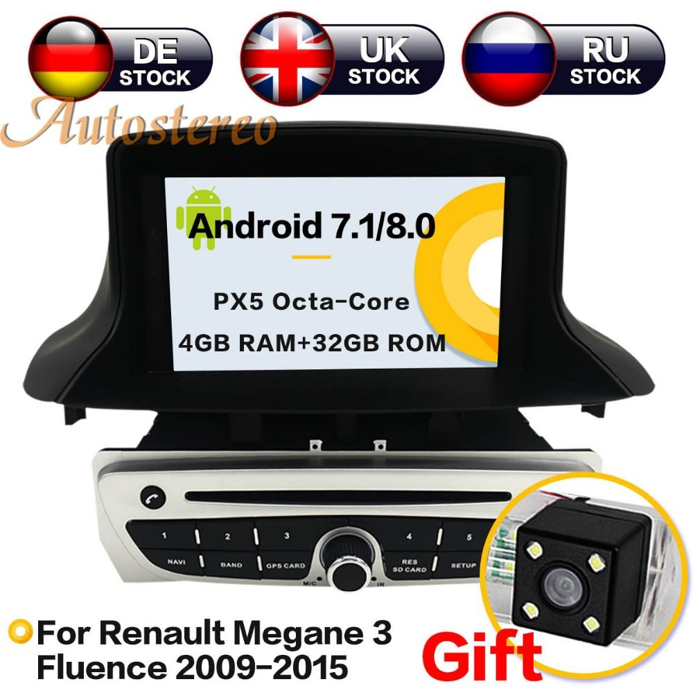 Android8 4G RAM Android7 Car DVD CD Player for Renault Megane 3 Fluence 2009-2015 Car GPS Satnav car stereo unit GPS navigation