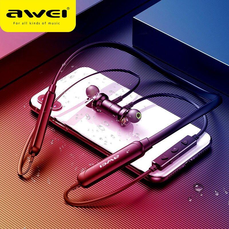 AWEI G20BLS Bluetooth écouteur sans fil écouteurs casque avec micro double pilote batterie 14 H lecture casque pour iPhone Xiaomi