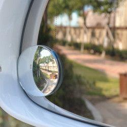 Envío Gratis palo claro coche espejo retrovisor seguridad gran angular punto ciego espejo estacionamiento redondo convexo Auto Exterior Accessorie