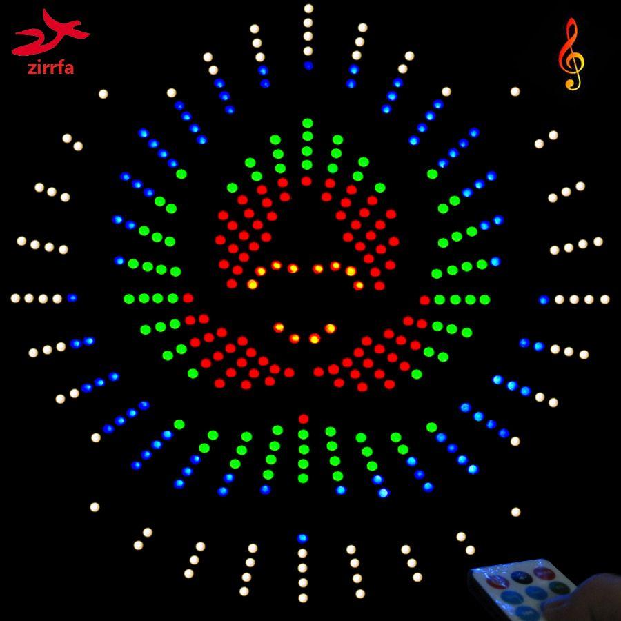 Zirrfa Pour IR commutateur De Danse Lumière cubeed, led Musique Spectre électronique diy kit