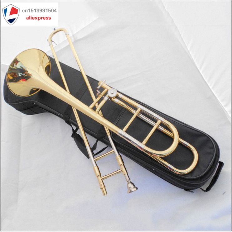 Trombone Tenor Bb/F key great technique sound Professional brass body