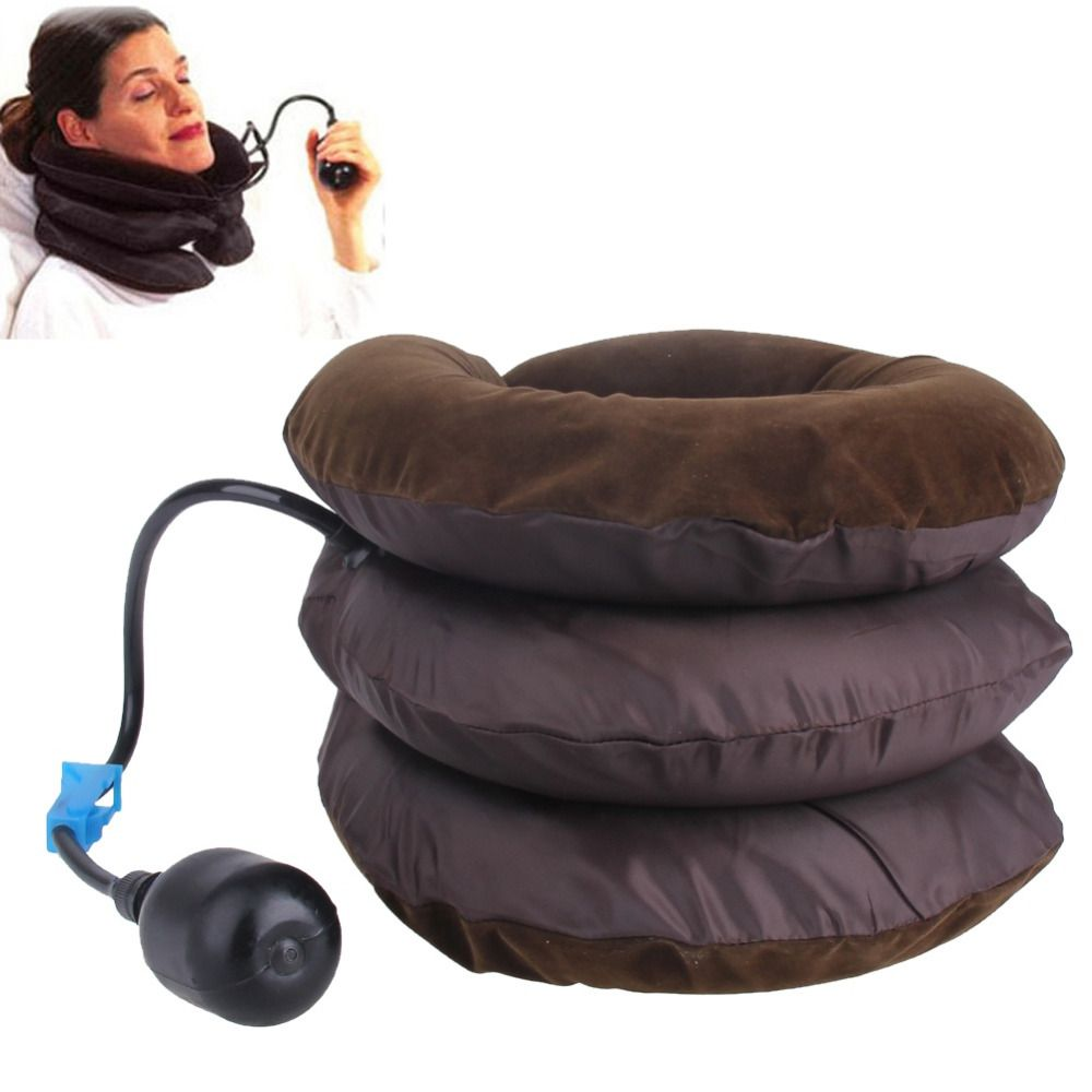 Neck Traction For Women Inflation Cervical Collar Soft Brace Relief Headache Back Shoulder Pain Massage Relaxation Health Care