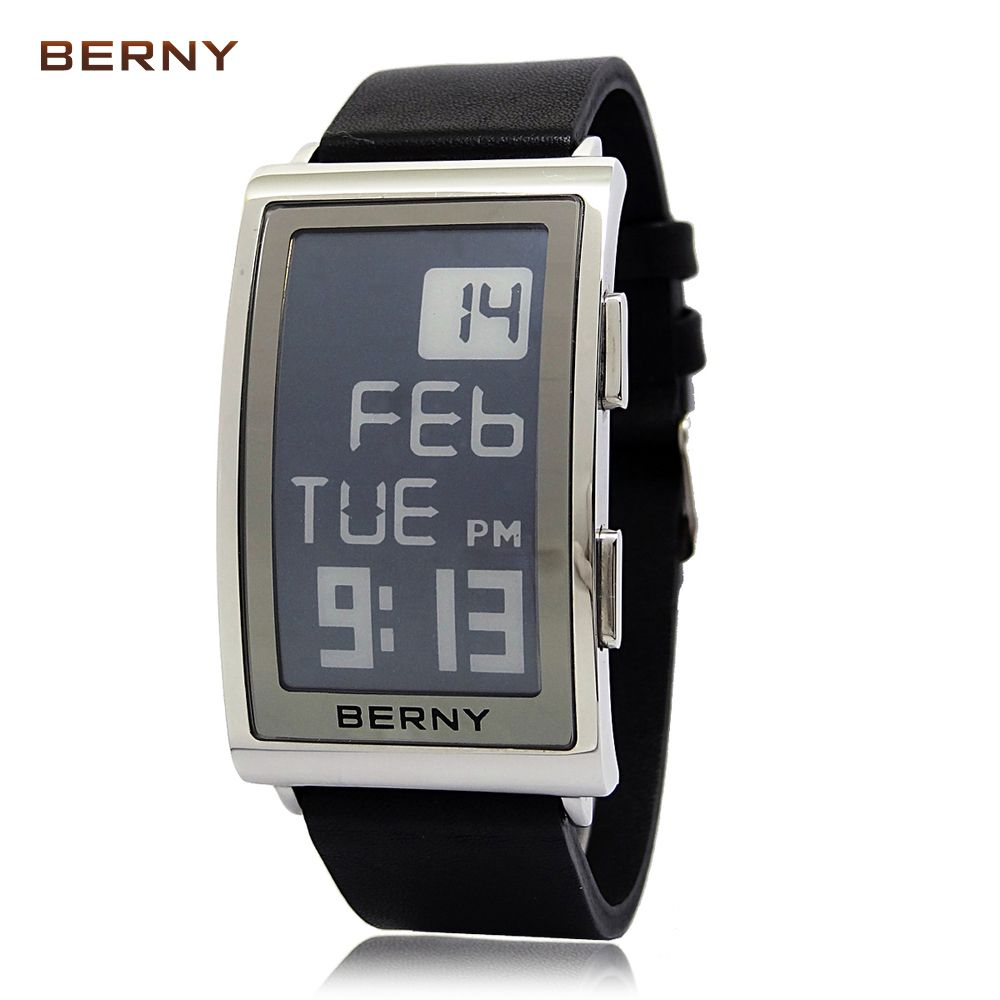 BERNY New Arrival Role Luxury Watch Men Electronic Ink reloj hombre electronic wrist watches Mens Retro Digital e-ink  E002