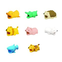 Dropshiping Tendway Cable Protector Chompers Animal Cable Winder Cable Shaped Tiger Cable Dog Shape Earphone Accessories & Parts