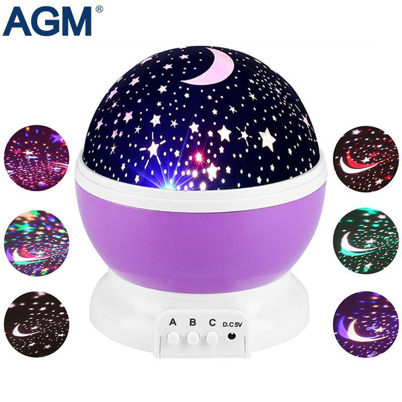 AGM luminaria etoiles ciel étoilé LED veilleuse étoile projecteur lune lampe de Table lumières Luminaria nouveauté veilleuse pour enfants