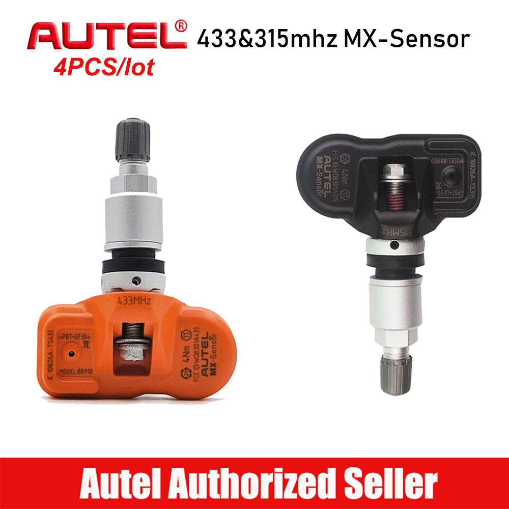 4 stücke Autel MX Sensor 315 mhz 433 mhz Reifendruck Sensor TPMS Sensoren Reifen Druck Monitor Programmierung Klon Lernen sensor