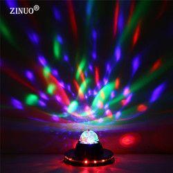 ZINUO AC85-265V LED Étape Lampe Mini Auto Rotation Cristal Disco boule Magique Coloré Éclairage de Scène Effet Pour Party DJ Bar Pub