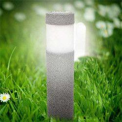 Claite Tenaga Surya Batu Pilar Rumput Lampu 5 W Putih Lampu Solar LED Outdoor Lampu Taman Lanskap Dinding Dekorasi Lampu