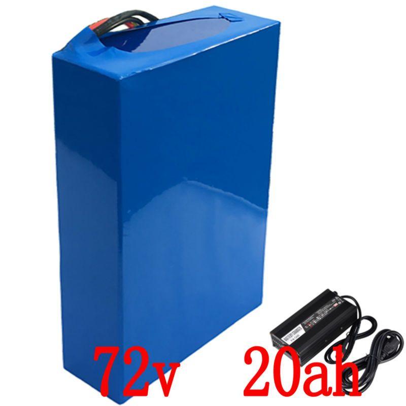 72 V 3000 W batterie 72 V 20AH elektrische bike 72 V Roller batterie 72 V 20AH Lithium-batterie mit 50A BMS und 84 V ladegerät Freies steuern