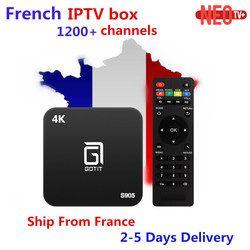 Meilleur Gotit S905 Android TV Box avec 1 Année 1200 + Arabe Français Belgique code Vivent TV et VOD IPTV XBMC préchargé livraison smart tv box