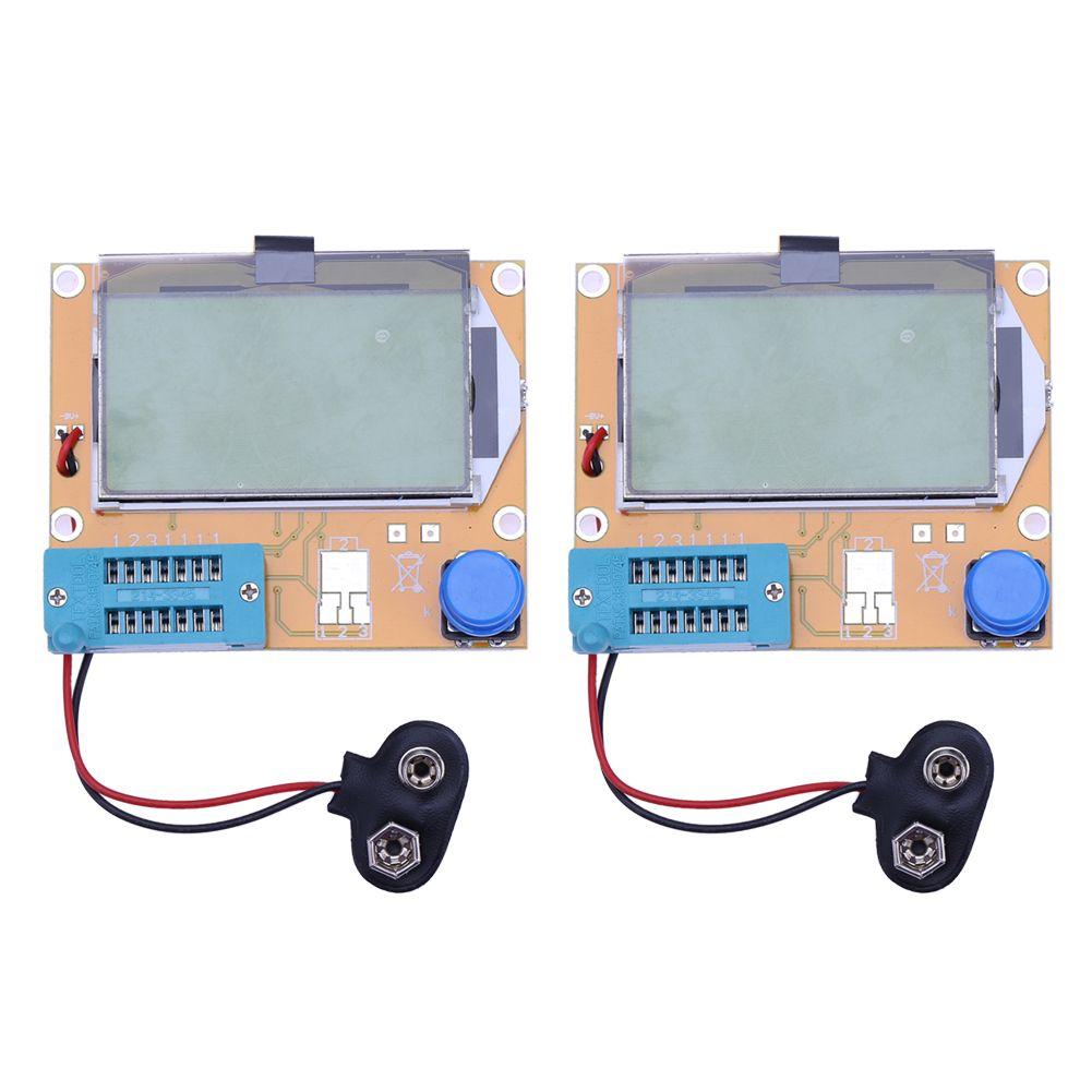 2Pcs LCR-T4 ESR Meter Digital Transistor Test Diode Triode Capacitance SCR Inductance Backlight LCD DispLay