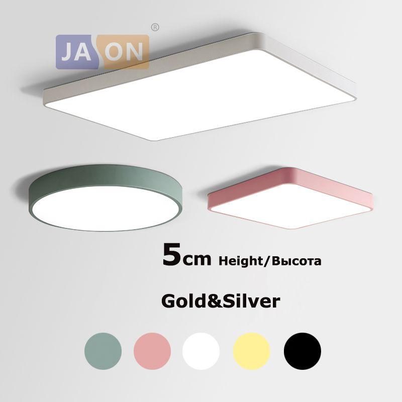 LED moderne en alliage acrylique carré 5cm Super mince lampe à LED. Lumière LED. Plafonniers. LED plafonnier. Plafonnier pour Foyer chambre