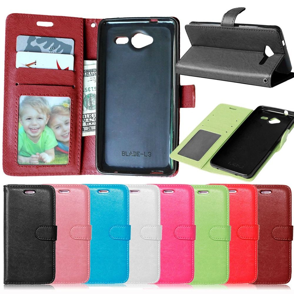 Für ZTE Blade L3 Fall Brieftasche Stil PU Ledertasche für ZTE klinge L3 Phone Portector Abdeckung mit Standfunktion und Kartenhalter Tasche