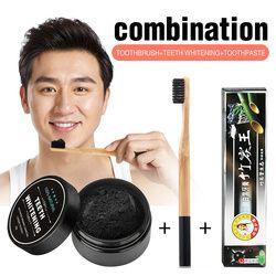 Pemutihan Gigi Set Bambu Arang Pasta Gigi Kuat Formula Whitening Gigi Bubuk Sikat Gigi Kebersihan Mulut Cleaning