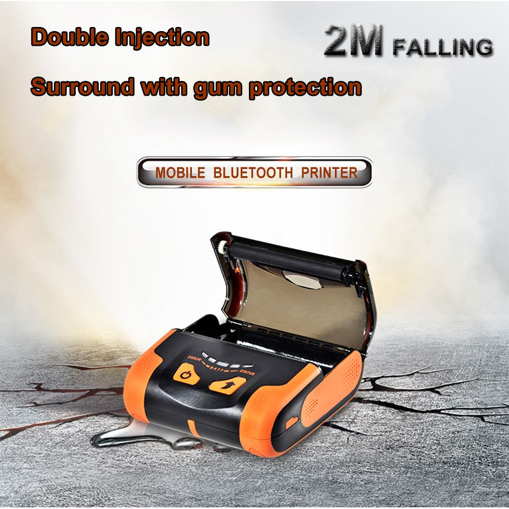 IssyzonePOS USB Bluetooth Imprimante Thermique 80mm Mobile Mini Lithium-ion Batteries Imprimante Soutien Arabe Thai Impression