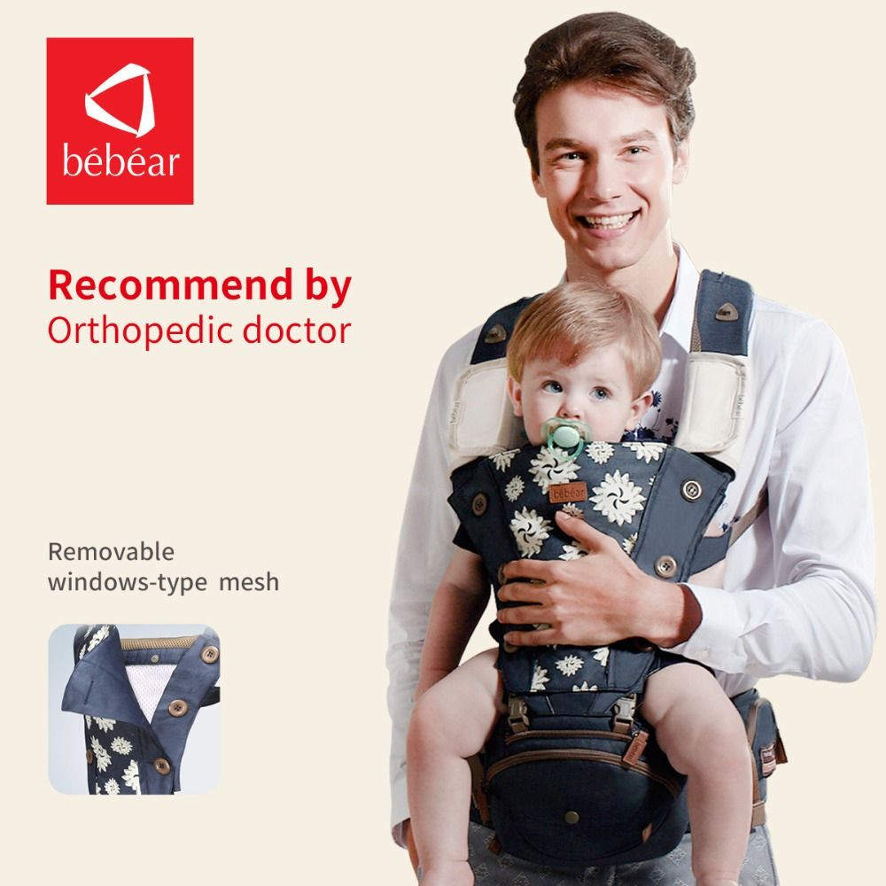 Bebear hipseat for prevent o-type legs new aviation aluminum 6 in 1 carry style load 20Kg Ergonomic baby carriers kid sling