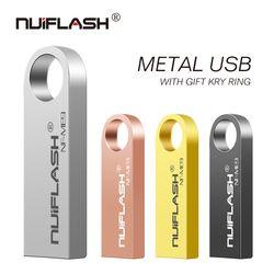 Flash Drive USB 2.0 USB Stick Kecepatan Tinggi Pena Drive 4 GB 8 Gb 16 GB 32 GB 64 GB flashdisk Tahan Air Thumbdrive U Disk Silver/Glod