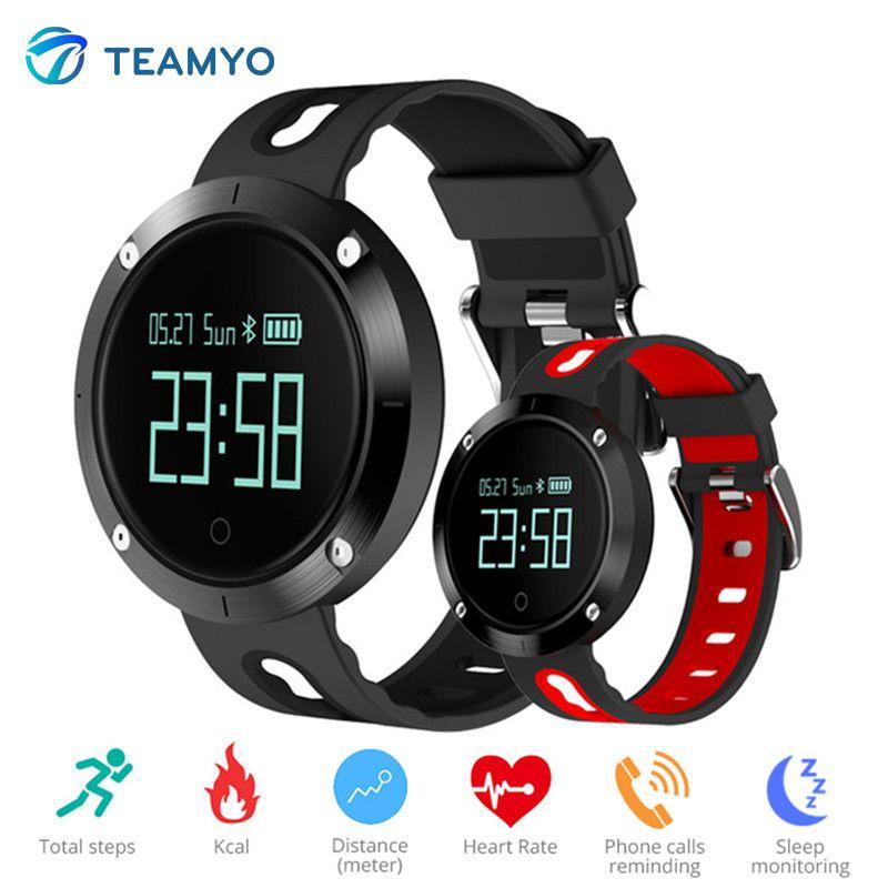 Bracelet intelligent de fréquence cardiaque de traqueur de forme physique de montre de tension artérielle de bande intelligente de Teamyo DM58 pour le téléphone d'iphone Android