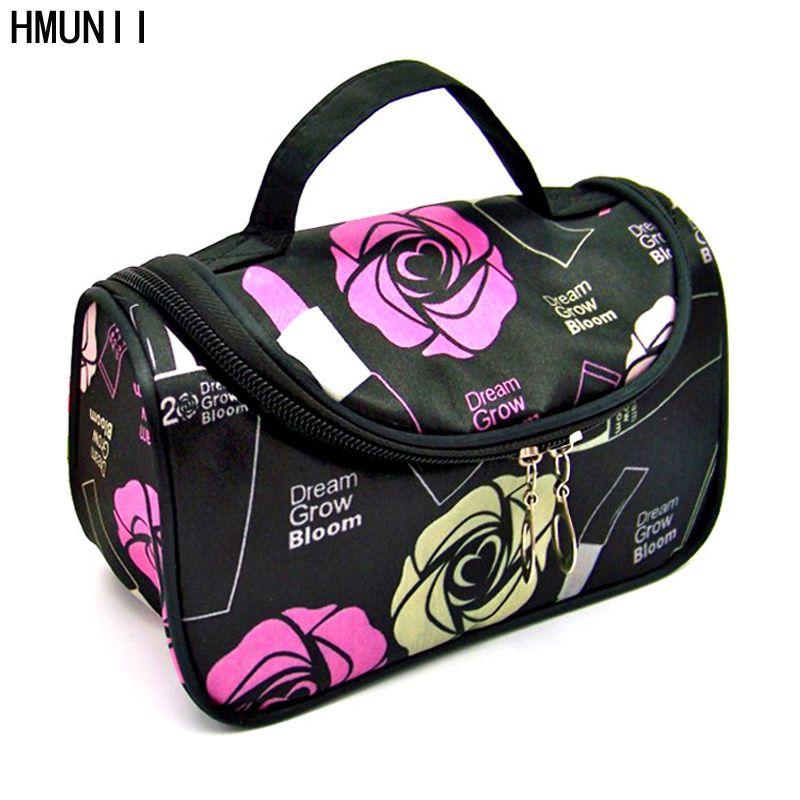 Fashion Brand waterproof Travel Cosmetic Make up Bag Protable Makeup Bag Purse Pouch Zipper Main Beautician organizer bags