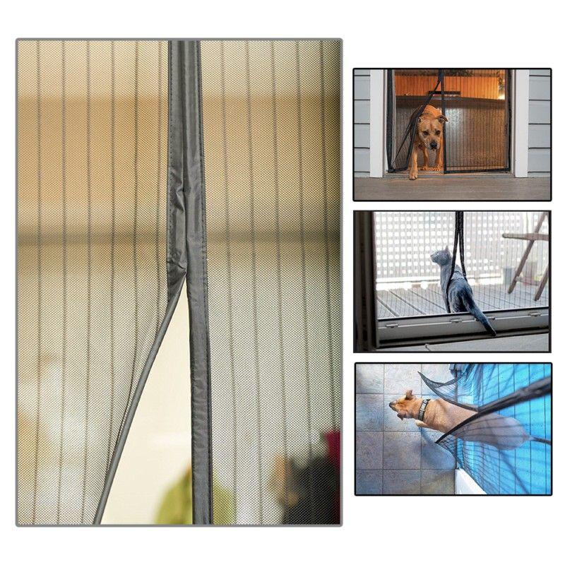 2 Цвет 210x100 см летние Дверные и оконные сетки с дышащей сеткой Шторы Магнитная Экран анти-москитные сетки автоматический Шторы ~