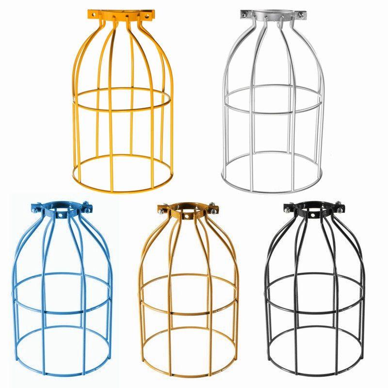 Die Beste Qualität Vintage Stahl Birne Schutz Clamp Auf Metall Lampe Käfig Retro Mühe Licht Industrielle