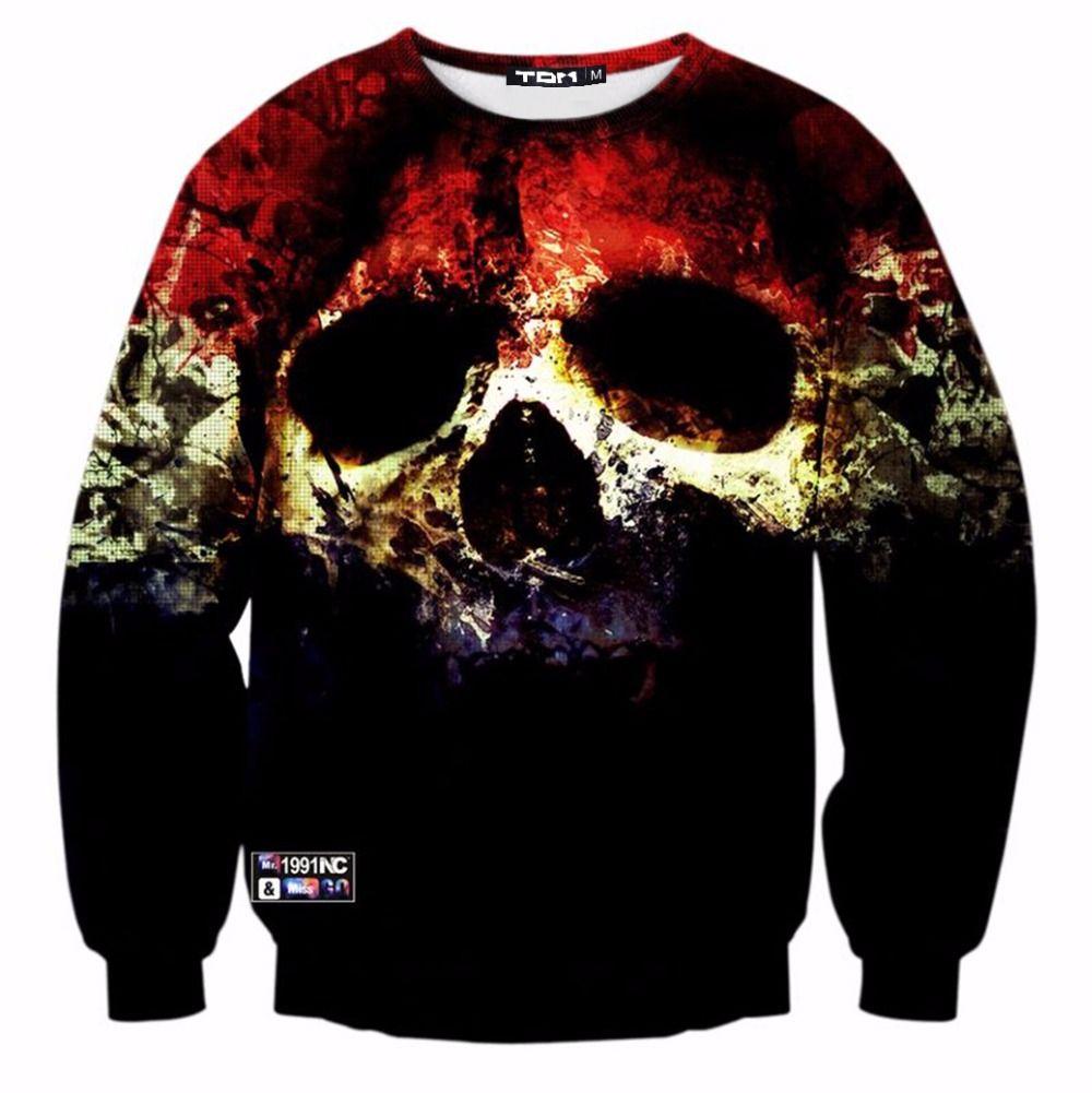 Mr.1991INC Neueste Tops Heißer Schädel 3D hoodies sweatshirts Männer langarm dünne hoodies dünne beiläufige sweatshirt Asien