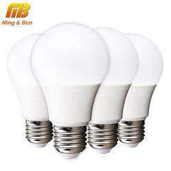 [MingBen] 4 шт СИД Лампочки E14 E27 3Вт 5Вт 7Вт 9Вт 12Вт 15Вт 18Вт 220В Осветительная Смарт Лампочки IC Настоящая Мощность Лампочка Высокой Яркости Светодио...