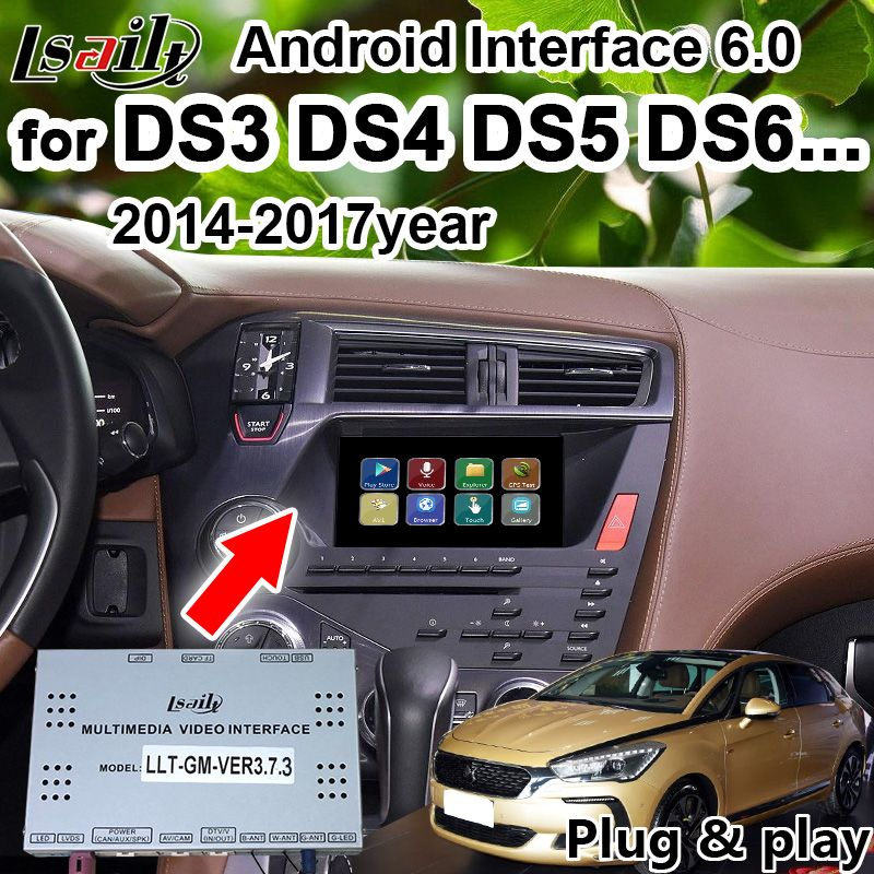 Android GPS Navigation Box für Citroen DS3 DS4 DS5 DS6.. smeg + Multimedia video interface unterstützung drahtlose carplay durch Lsailt