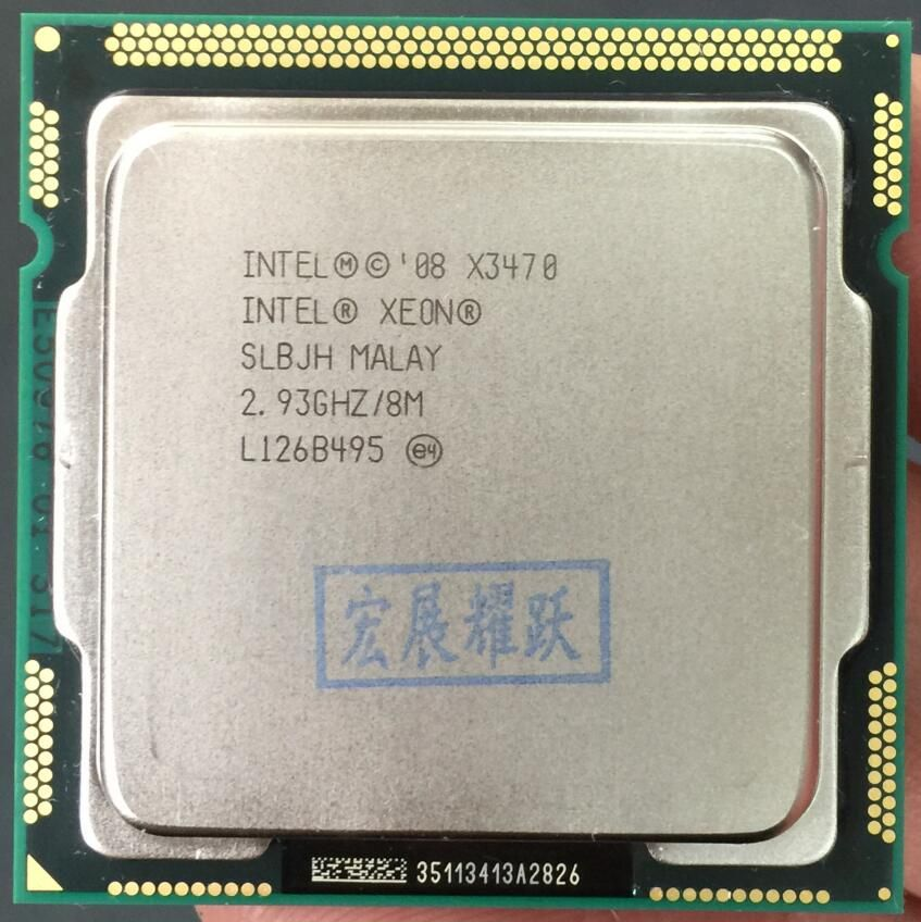Intel Xeon Processor X3470 Quad-Core LGA1156 PC computer Desktop CPU 100% working properly Desktop Server Processor CPU